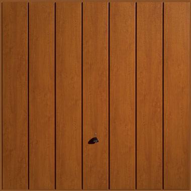 Garador Sherwood garage door in golden oak