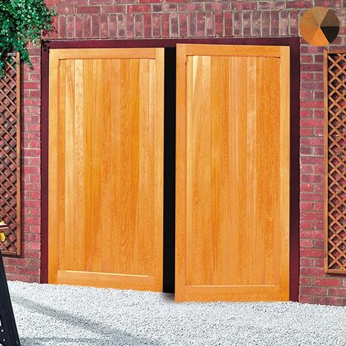 Cardale Futura Vertical Timber Side Hinged Garage Door & Futura Vertical Timber Side Hinged Garage Door