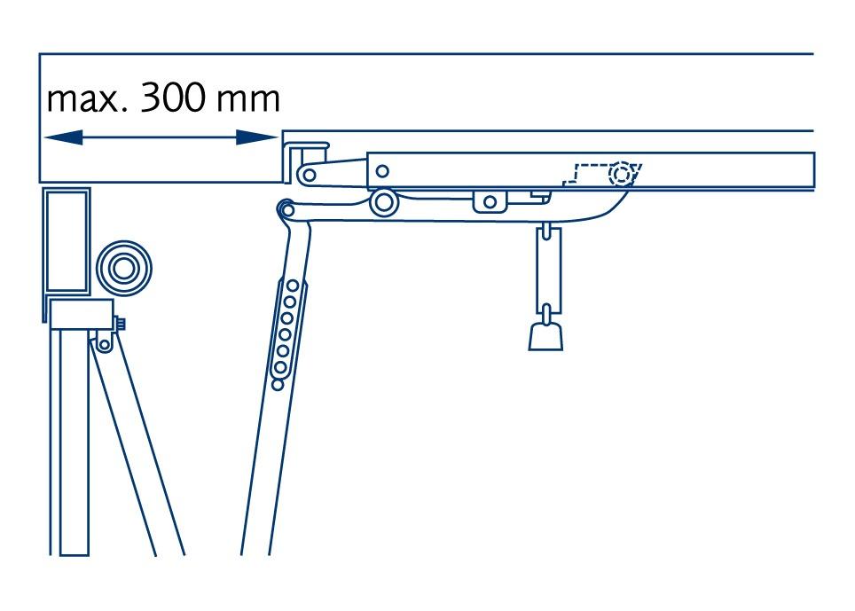 Garador canopy lintel extension