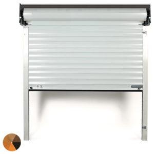 SWS Seceuroglide Woodgrain Roller Garage Door - Half Box