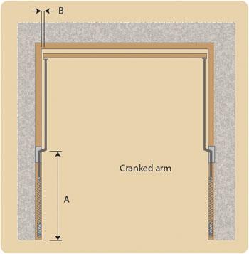 Woodrite cranked arm