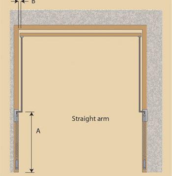 Woodrite straight arm